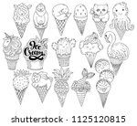 collection of fantasy ice... | Shutterstock .eps vector #1125120815