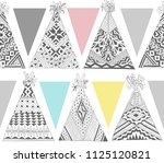 vector seamless pattern with... | Shutterstock .eps vector #1125120821