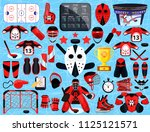 big hockey sport set. modern... | Shutterstock .eps vector #1125121571