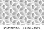 matte white body shape with... | Shutterstock . vector #1125125591