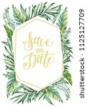 save the date    card ... | Shutterstock . vector #1125127709