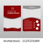 business brochure flyer design... | Shutterstock .eps vector #1125131684