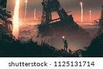 post apocalyptic scenery... | Shutterstock . vector #1125131714