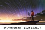 young photographer taking... | Shutterstock . vector #1125132674