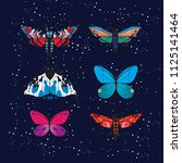 moth sky collections | Shutterstock .eps vector #1125141464
