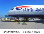 heathrow  england  27 jun 2018  ... | Shutterstock . vector #1125144521