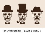 vector collection of sculls in... | Shutterstock .eps vector #1125145577