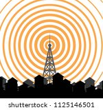 tower transmitter icon | Shutterstock .eps vector #1125146501