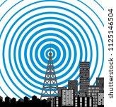 tower transmitter icon | Shutterstock . vector #1125146504