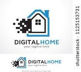 digital house logo template... | Shutterstock .eps vector #1125153731