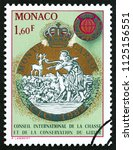 monaco   circa 1982  a stamp... | Shutterstock . vector #1125156551