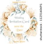 watercolor flowers weath... | Shutterstock .eps vector #1125160691