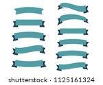 glossy vintage ribbon vector.... | Shutterstock .eps vector #1125161324