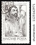 hungary   circa 1989  a stamp... | Shutterstock . vector #1125162971