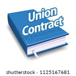union contract  blue book  | Shutterstock .eps vector #1125167681
