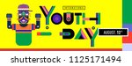 international youth day banner... | Shutterstock .eps vector #1125171494
