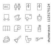 toilet  restroom  wc vector... | Shutterstock .eps vector #1125175124