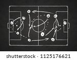 white chalk scheme of game... | Shutterstock . vector #1125176621