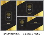 luxury gold card template with... | Shutterstock .eps vector #1125177557