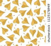 cartoon yellow autumn leaves on ... | Shutterstock .eps vector #1125178949
