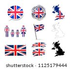 large set of united kingdom... | Shutterstock . vector #1125179444