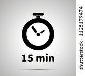 fifteen minutes timer simple... | Shutterstock . vector #1125179474