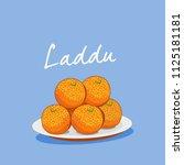 indian traditional sweet laddu | Shutterstock .eps vector #1125181181