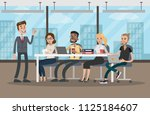 people at conference. business... | Shutterstock . vector #1125184607