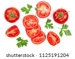 tomatoes with parsley leaves... | Shutterstock . vector #1125191204