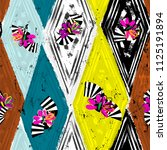 seamless geometric pattern... | Shutterstock .eps vector #1125191894