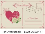retro postcard on the theme of... | Shutterstock .eps vector #1125201344