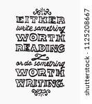 black and white lettering... | Shutterstock .eps vector #1125208667