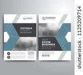 business cover brochure... | Shutterstock .eps vector #1125209714