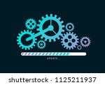 loading or updating files with... | Shutterstock .eps vector #1125211937