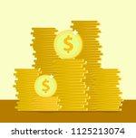 saving money or bank. dollars.... | Shutterstock .eps vector #1125213074