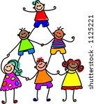 teamwork kids | Shutterstock . vector #1125221
