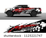 truck and car decal wrap vector ... | Shutterstock .eps vector #1125221747
