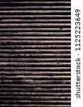 oil drill pipe. rusty drill... | Shutterstock . vector #1125223649
