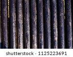 oil drill pipe. rusty drill... | Shutterstock . vector #1125223691