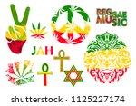 set of isolated rastaman symbol ...
