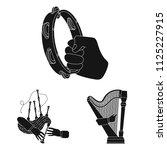 manipulation by hands black... | Shutterstock .eps vector #1125227915