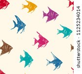 ocean fishes multicolored... | Shutterstock .eps vector #1125234014