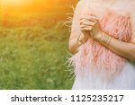 soft focus a young woman... | Shutterstock . vector #1125235217