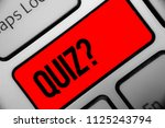 handwriting text writing quiz... | Shutterstock . vector #1125243794