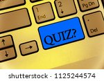 writing note showing quiz... | Shutterstock . vector #1125244574