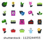 colored vector icon set   leaf...   Shutterstock .eps vector #1125244955