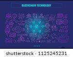 blockchain conceptual image... | Shutterstock .eps vector #1125245231