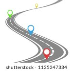 winding road timeline concept | Shutterstock .eps vector #1125247334