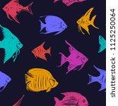 beautiful multicolored ocean... | Shutterstock .eps vector #1125250064