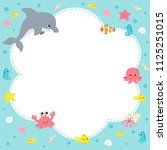 cute sea creatures design... | Shutterstock .eps vector #1125251015